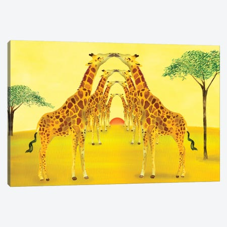 Safari Canvas Print #ELW16} by Ellen Weinstein Canvas Wall Art