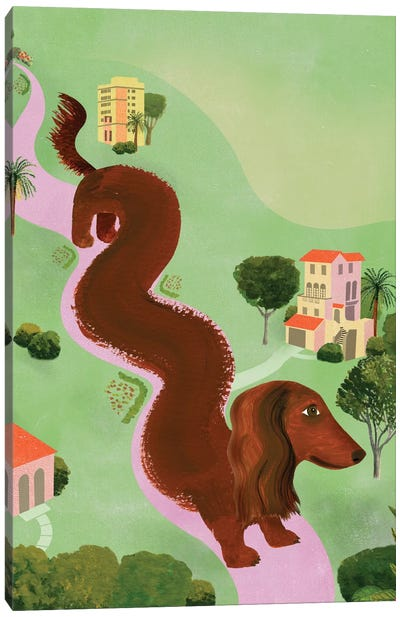 Windy Dog Canvas Art Print