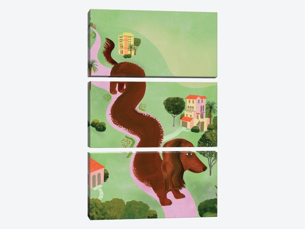 Windy Dog by Ellen Weinstein 3-piece Art Print