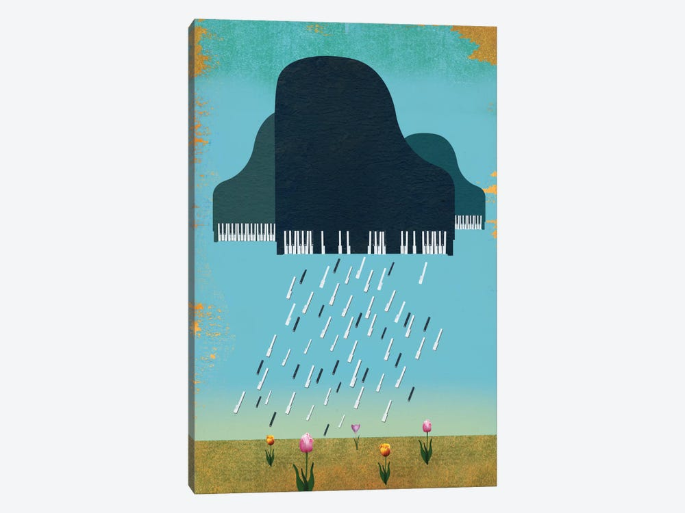 April Showers by Ellen Weinstein 1-piece Canvas Print