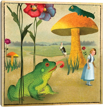 Wonderland Paper Canvas Art Print