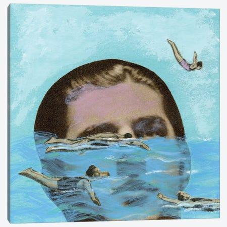 Man Overboard Canvas Print #ELW4} by Ellen Weinstein Canvas Artwork
