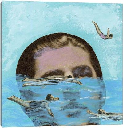 Man Overboard Canvas Print #ELW4