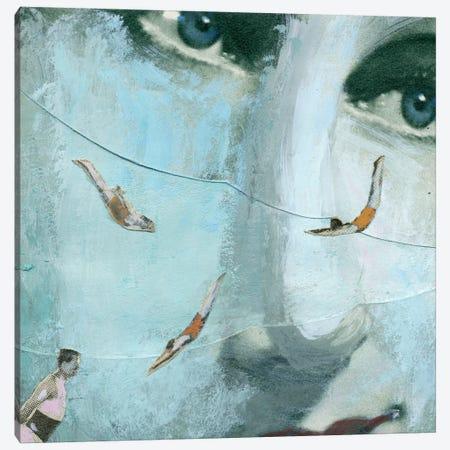 Swimmers Of The Sea Canvas Print #ELW8} by Ellen Weinstein Canvas Print