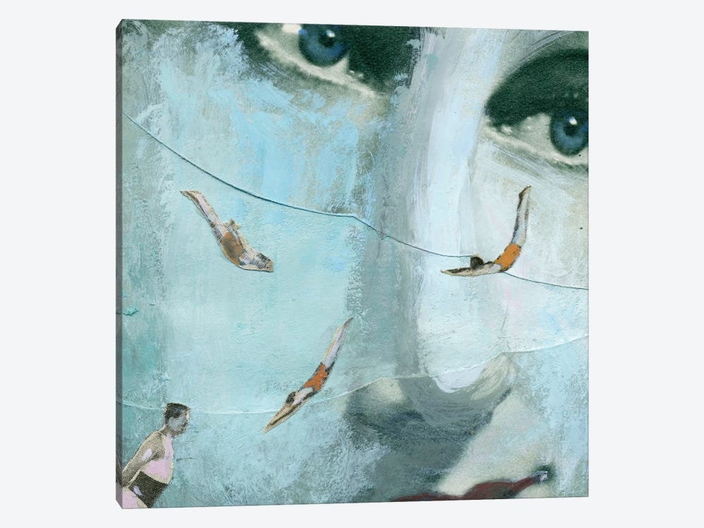 Swimmers Of The Sea by Ellen Weinstein 1-piece Canvas Artwork