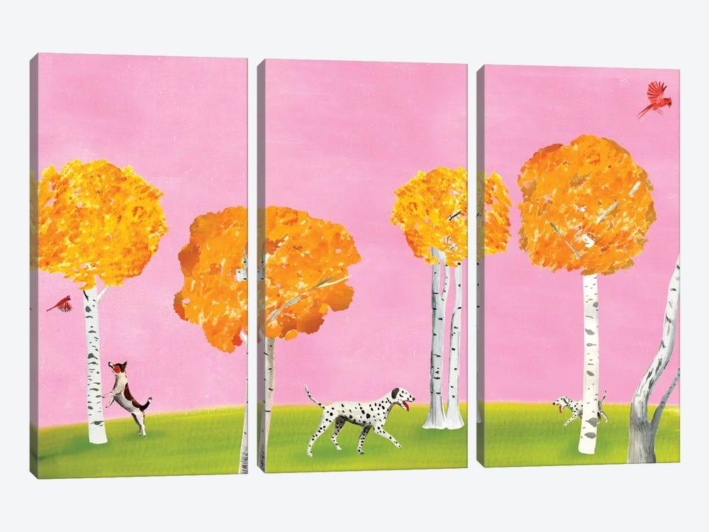 Birch Forest by Ellen Weinstein 3-piece Canvas Art Print