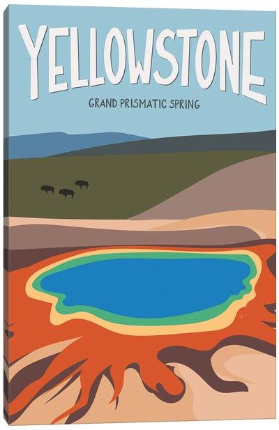 Grand Prismatic Spring, Yellowstone National Park, Wyoming, USA Canvas Art Print