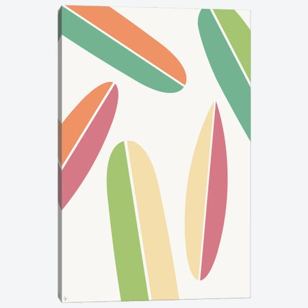 Abstract Retro Colorful Surfboards Canvas Print #ELY136} by Lyman Creative Co. Art Print