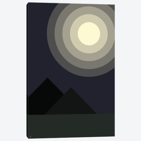Full Moon Moonlight At Midnight Iin The Mountains Canvas Print #ELY139} by Lyman Creative Co. Canvas Artwork