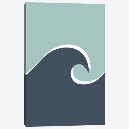 Ocean Wave Blue Aqua Canvas Print #ELY141} by Lyman Creative Co. Art Print