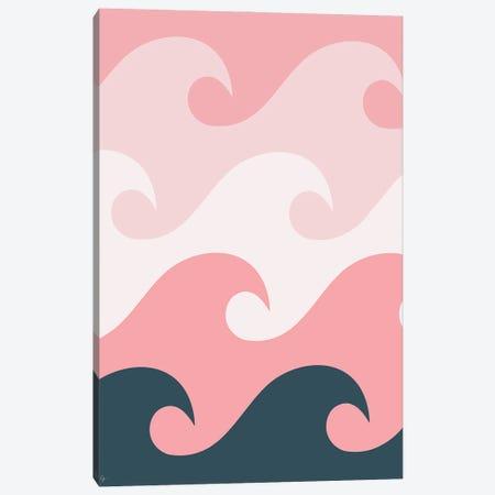 Pink Ocean Waves Canvas Print #ELY142} by Lyman Creative Co. Canvas Print