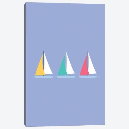 Colorful Summer Sailboats Canvas Print #ELY156} by Lyman Creative Co. Art Print