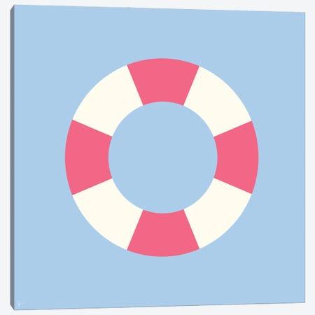 Pool Float Tube Canvas Print #ELY165} by Lyman Creative Co. Canvas Wall Art