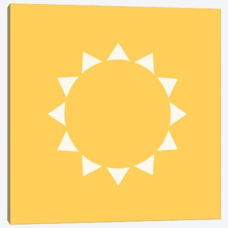 Yellow Sun Canvas Print #ELY166} by Lyman Creative Co. Canvas Artwork