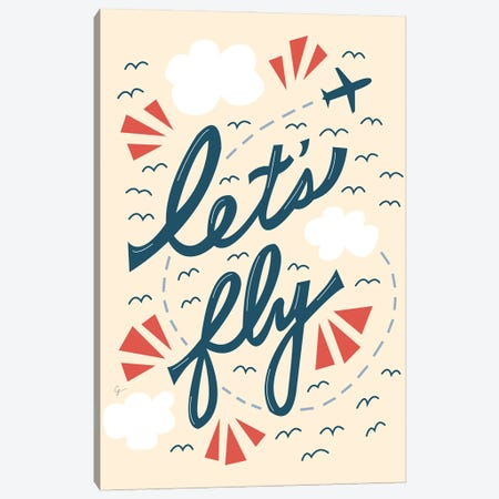 Let's Fly Canvas Print #ELY177} by Lyman Creative Co. Art Print