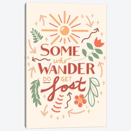 Some Who Wander Do Get Lost Canvas Print #ELY180} by Lyman Creative Co. Canvas Art Print