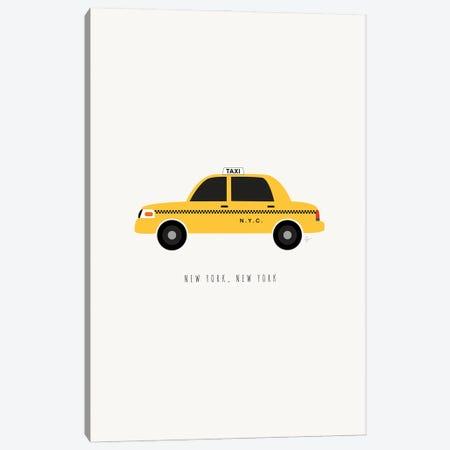 NYC Taxi Canvas Print #ELY190} by Lyman Creative Co. Canvas Art