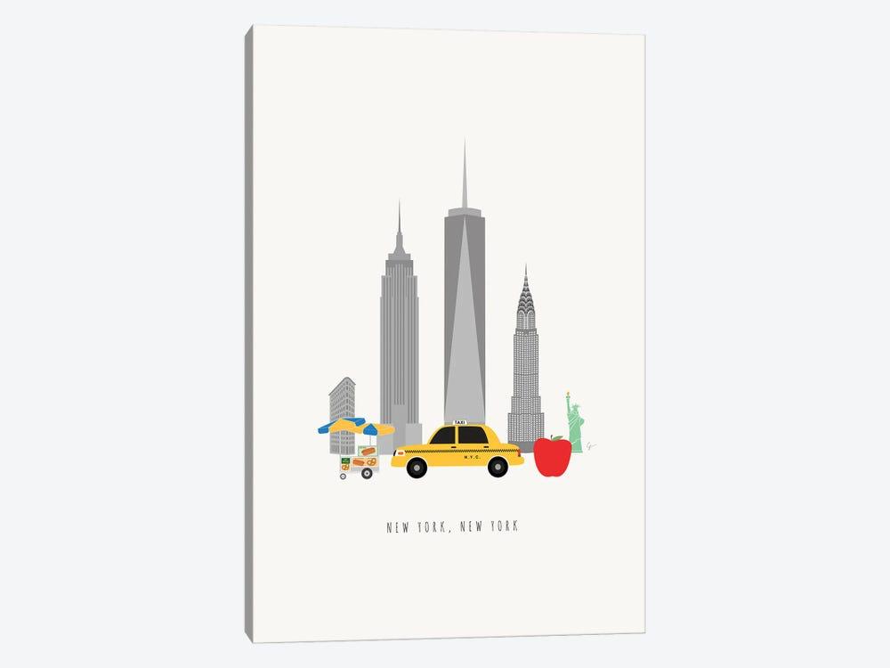 NYC Skyline by Lyman Creative Co. 1-piece Art Print