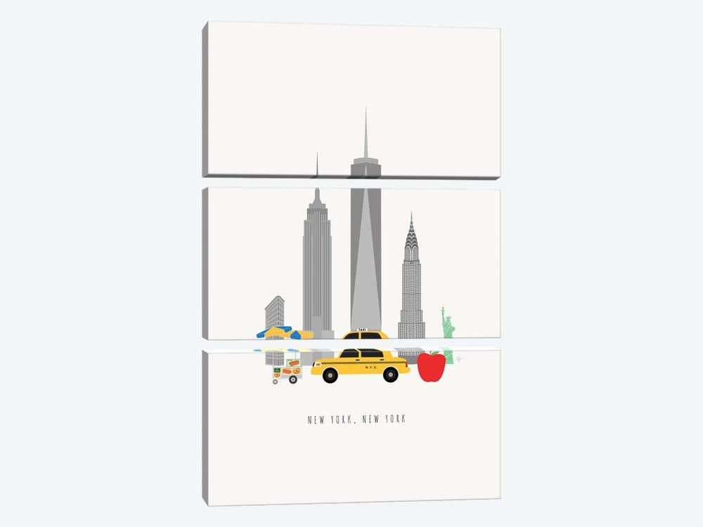 NYC Skyline by Lyman Creative Co. 3-piece Canvas Print