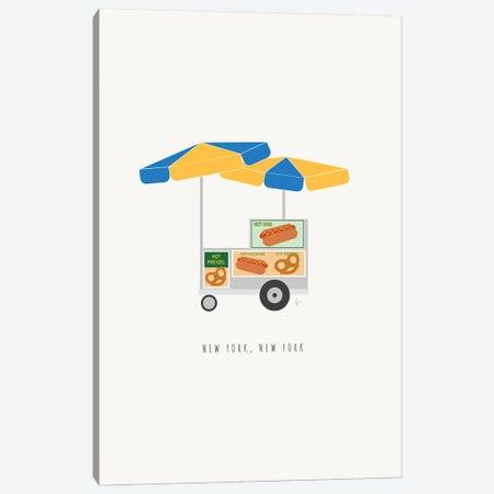 NYC Hot Dog Cart Canvas Print #ELY192} by Lyman Creative Co. Canvas Art