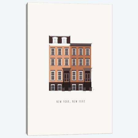 NYC Brownstone Canvas Print #ELY194} by Lyman Creative Co. Canvas Art Print