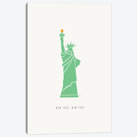 NYC Statue Of Liberty Canvas Print #ELY195} by Lyman Creative Co. Canvas Art Print