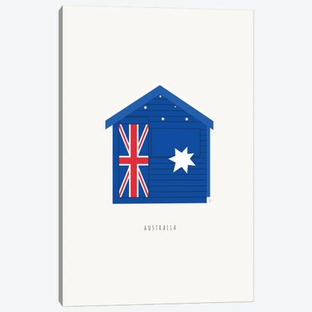 Brighton Beach Bathing Box, Melbourne, Australia Canvas Print #ELY200} by Lyman Creative Co. Canvas Art