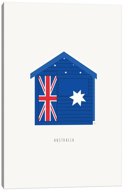 Brighton Beach Bathing Box, Melbourne, Australia Canvas Art Print