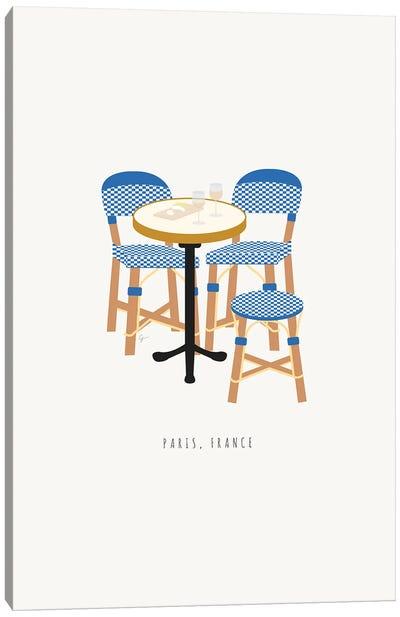 Paris Cafe Chairs Canvas Art Print