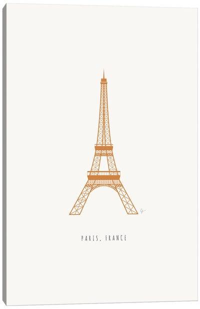 Eiffel Tower, Paris, France Canvas Art Print