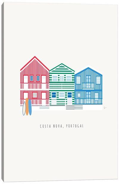 Costa Nova, Portugal Canvas Art Print