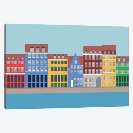 Nyhavn, Copenhagen, Denmark North Canvas Print #ELY41} by Lyman Creative Co. Canvas Art