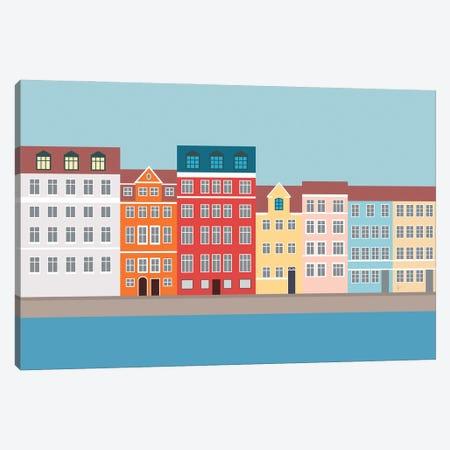 Nyhavn, Copenhagen, Denmark South Canvas Print #ELY42} by Lyman Creative Co. Canvas Artwork