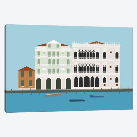 Venice, Italy Canals Canvas Print #ELY67} by Lyman Creative Co. Canvas Art Print