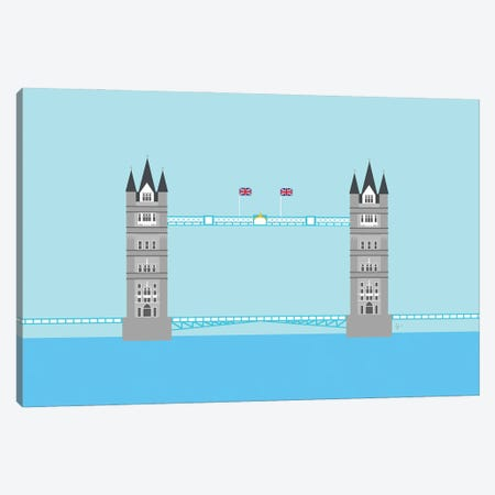 London, England | Tower Bridge Canvas Print #ELY74} by Lyman Creative Co. Canvas Artwork