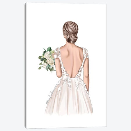 Bride Canvas Print #ELZ101} by Elza Fouche Canvas Art Print