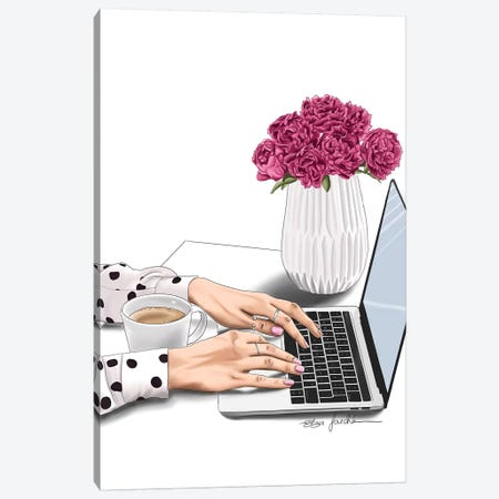 Boss Lady Canvas Print #ELZ102} by Elza Fouche Canvas Art Print