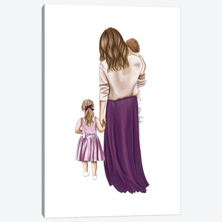 Mother And Daughters Canvas Print #ELZ105} by Elza Fouche Canvas Artwork