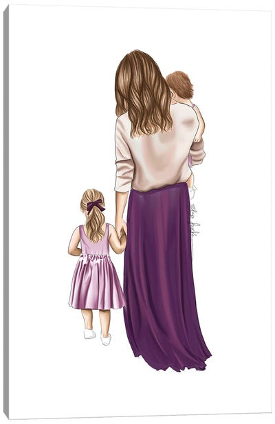 Mother And Daughters Canvas Art Print