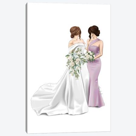 Bride & Maid Of Honour Canvas Print #ELZ106} by Elza Fouche Canvas Art