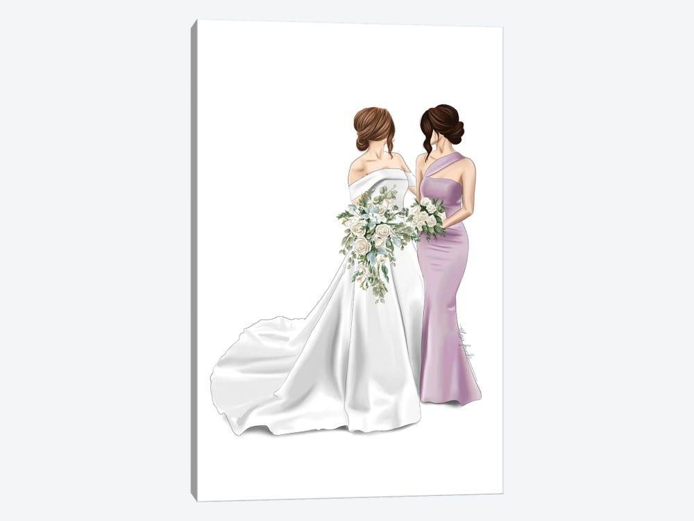 Bride & Maid Of Honour by Elza Fouche 1-piece Art Print