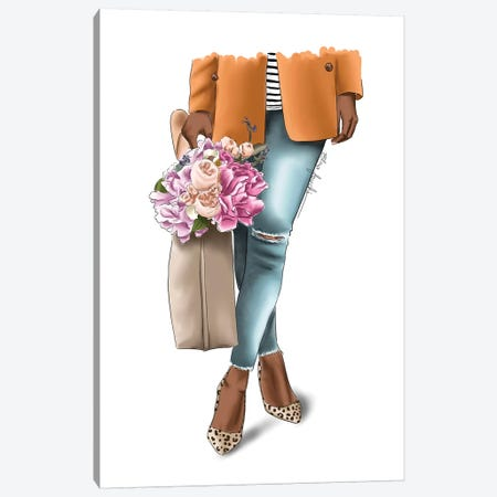 Outfit Goals Canvas Print #ELZ108} by Elza Fouche Canvas Art Print