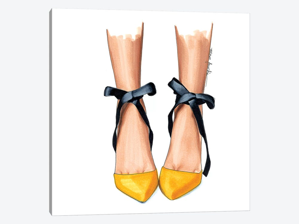 Black & Yellow Heels by Elza Fouche 1-piece Canvas Art Print