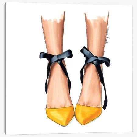 Black & Yellow Heels Canvas Print #ELZ10} by Elza Fouche Canvas Artwork