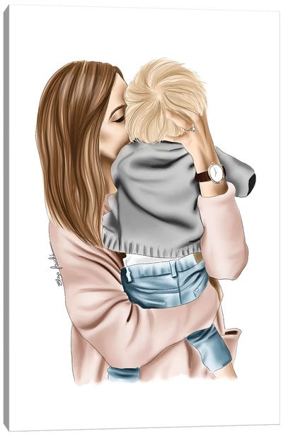 Mother And Son Canvas Art Print