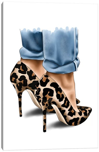 Leopard Spot Heels Canvas Art Print