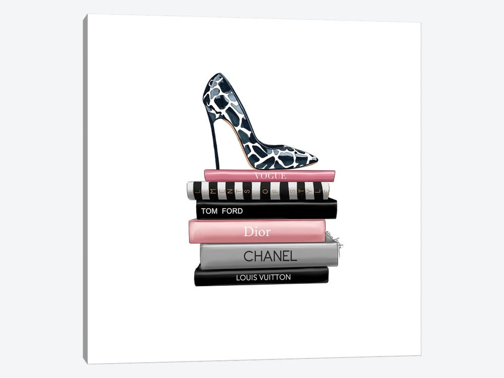 Books And Heels by Elza Fouche 1-piece Canvas Print