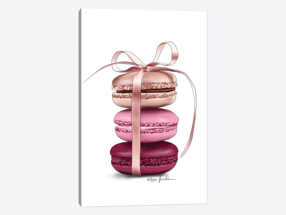 Macaroons by Elza Fouche 1-piece Canvas Print