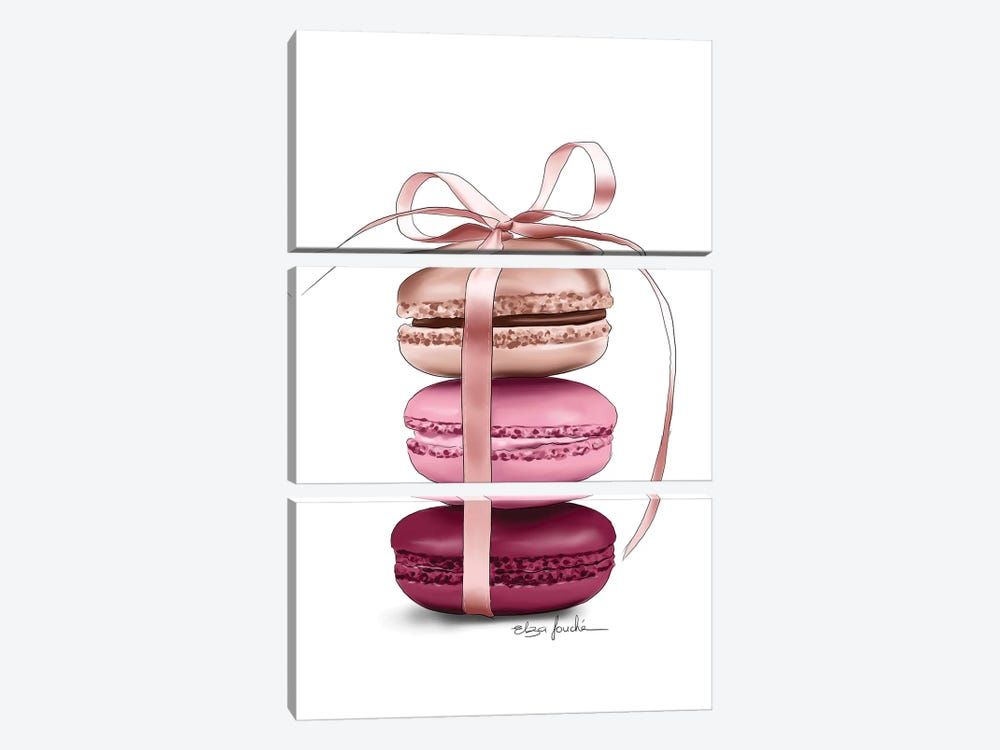 Macaroons by Elza Fouche 3-piece Canvas Art Print