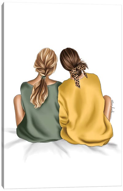 Bff Canvas Art Print